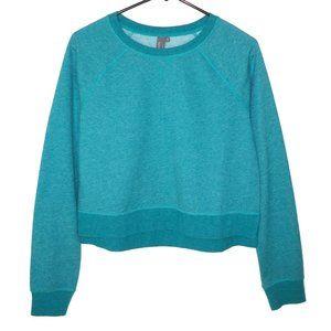 NEW Sweaty Betty Chelsea Crop Sweatshirt Teal S